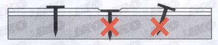Pričvršćivanje ekserima - uputstvo za postavljanje tegole