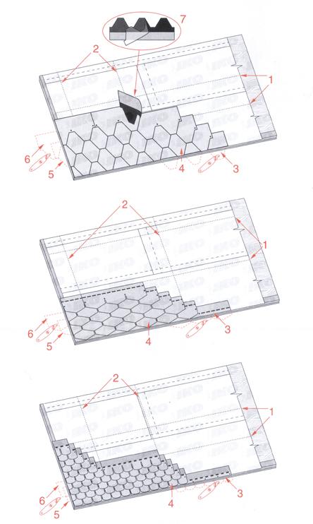 Odlepljivanje zaštitne folije kod samolepljivih šindri - uputstvo za postavljanje tegole
