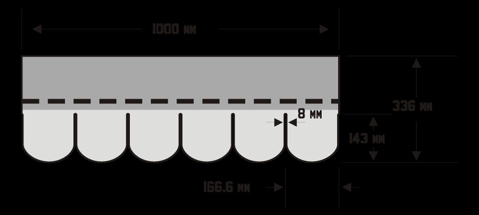 Tegola - ilustracija vrste Superglass Biber