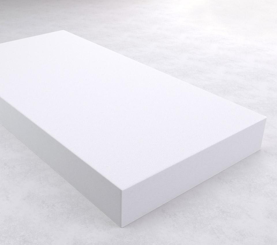 Beli stiropor ilustracija