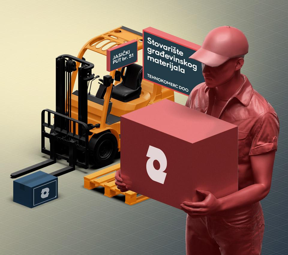 Stovarište građevinskog materijala Tehnokomerc DOO