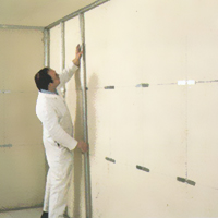 Suva gradnja - montiranje distancera i zidnih profila